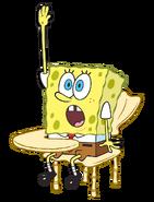 SpongeBob in his desk stock art