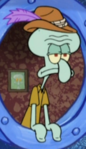 Squidward Wearing a Tyrolean Hat