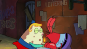 SpongeBob SquarePants Mrs Puff and Mr Krabs Kiss