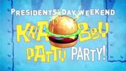 Krabby Patty Party (Krabby Patty Jingle)