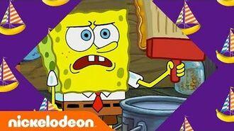 SpongeBob & Patrick The Wet Painters 🎨 in 5 Minutes SpongeBob SquarePants Nick