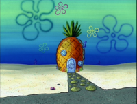 SpongeBob's pineapple house in Season 3-4