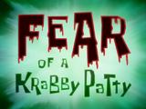 Fear of a Krabby Patty title card