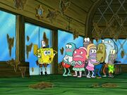 Spongebob dancing