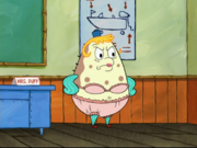Mrs. Puff wearing a bikini