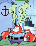 Mr. Krabs with Dollar Sign Eyes