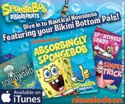 Spongebob on itunes ad 2010