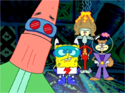 The superfriends in Mermaid Man and Barnacle Boy V