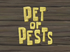 Pet or Pests title card