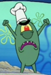 Plankton Wearing a Toque Blanche