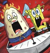 SpongeBob-and-Mrs-Puff-screaming-driving