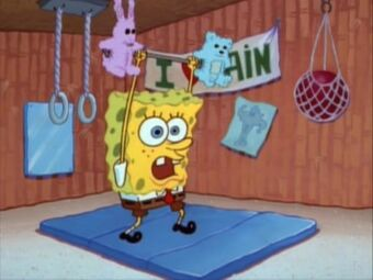 Image result for spongebob lifting weights
