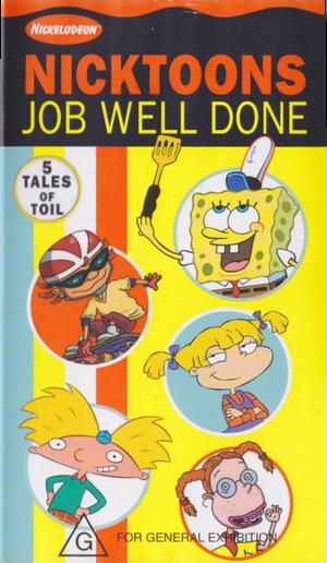 Nicktoons Job Well Done VHS