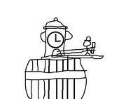 DrawingOfAFireHydrantClock
