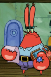 Mr. Krabs Wearing Glasses