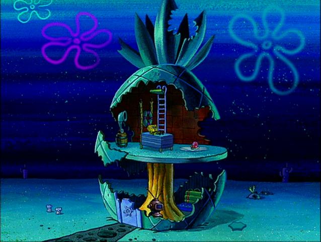 File:SpongeBob's pineapple house in Season 2-7.png