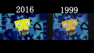 Spongebob Squarepants Opening Side By Side Comparison