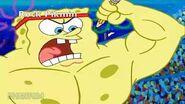 Pikmin portrayed by spongebob