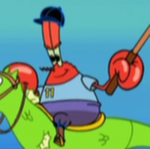 Mr. Krabs Wearing His Polo Uniform