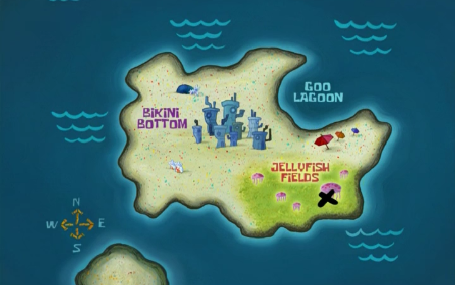 Bikini Bottom Map Bikini Bottom | Encyclopedia SpongeBobia | FANDOM powered by Wikia