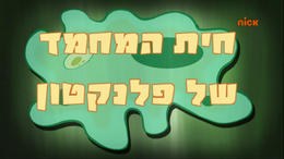 Planktons pet hebrew FIXED
