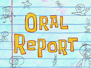 Oral Report title card