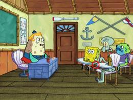 SpongeBob has no belt