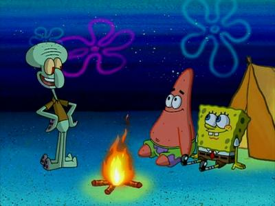Squidward c&ing with SpongeBob and Patrick & The Camping Episode   Encyclopedia SpongeBobia   FANDOM powered by ...