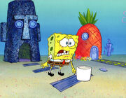 Spongebob crying in gets fired CEL