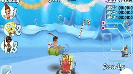 Nicktoons Snow Kart Rally Game