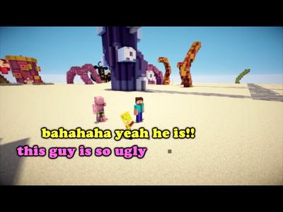 SpongeBob Minecraft Meme