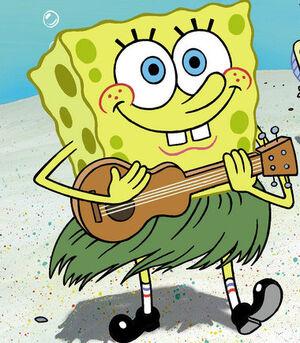 SpongeBob with guitar