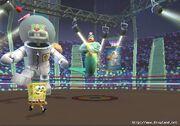 3d Giant Robot Sandy, 3d Spongebob, & 3d King Neptune