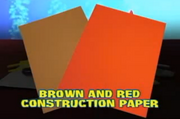 Brown and Red Construction Paper