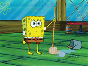 SpongeBob with no socks or shoes