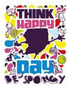 SpongeBob-Schwammkopf-Think-Happy-Ein-Day-Sei-Be-Spongy-SpongeBob-SquarePants-Nickelodeon-Germany-Nickelodeon-Deutschland-thd logo 2012 layered 4print exp
