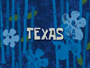 Texas voice-over title card