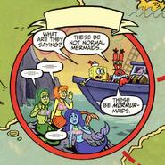Mermaids in Captain Goldfish Comic