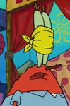 Mr. Krabs Wearing a Blindfold