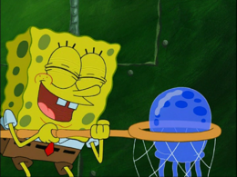 SpongeBob's eyelashes mistake in Jellyfish Hunter