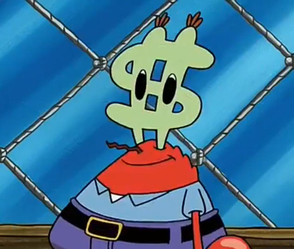 Bildergebnis für mr krabs money