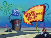 The Chum Bucket & The ''Now Open 23 Hours'' Sign