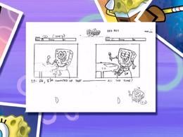 To SquarePants or not to SquarePants storyboard panels-5