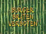 100a Episodenkarte-Burger braten verboten