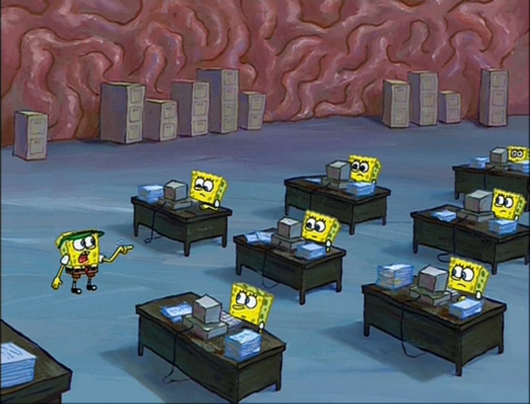 Brain Office Encyclopedia Spongebobia