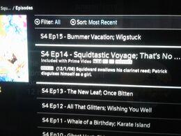 Squidtastic Voyage airing Error