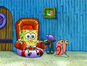 SpongeBob Watching TV With Gary