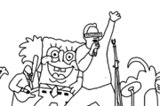 Tom Kenny and SpongeBob Singing Traced