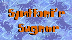Suction cup symphony title card welsh