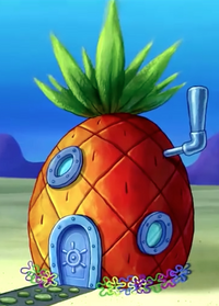 SpongeBob's pineapple house in The SpongeBob Movie - Sponge Out of Water